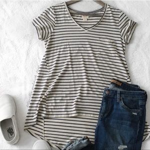 Basic Stripe Long Tee